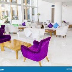 Chair Design For Hotel Osim Uastro Zero Gravity Massage Modern Interior Of A Lobby Stock Image