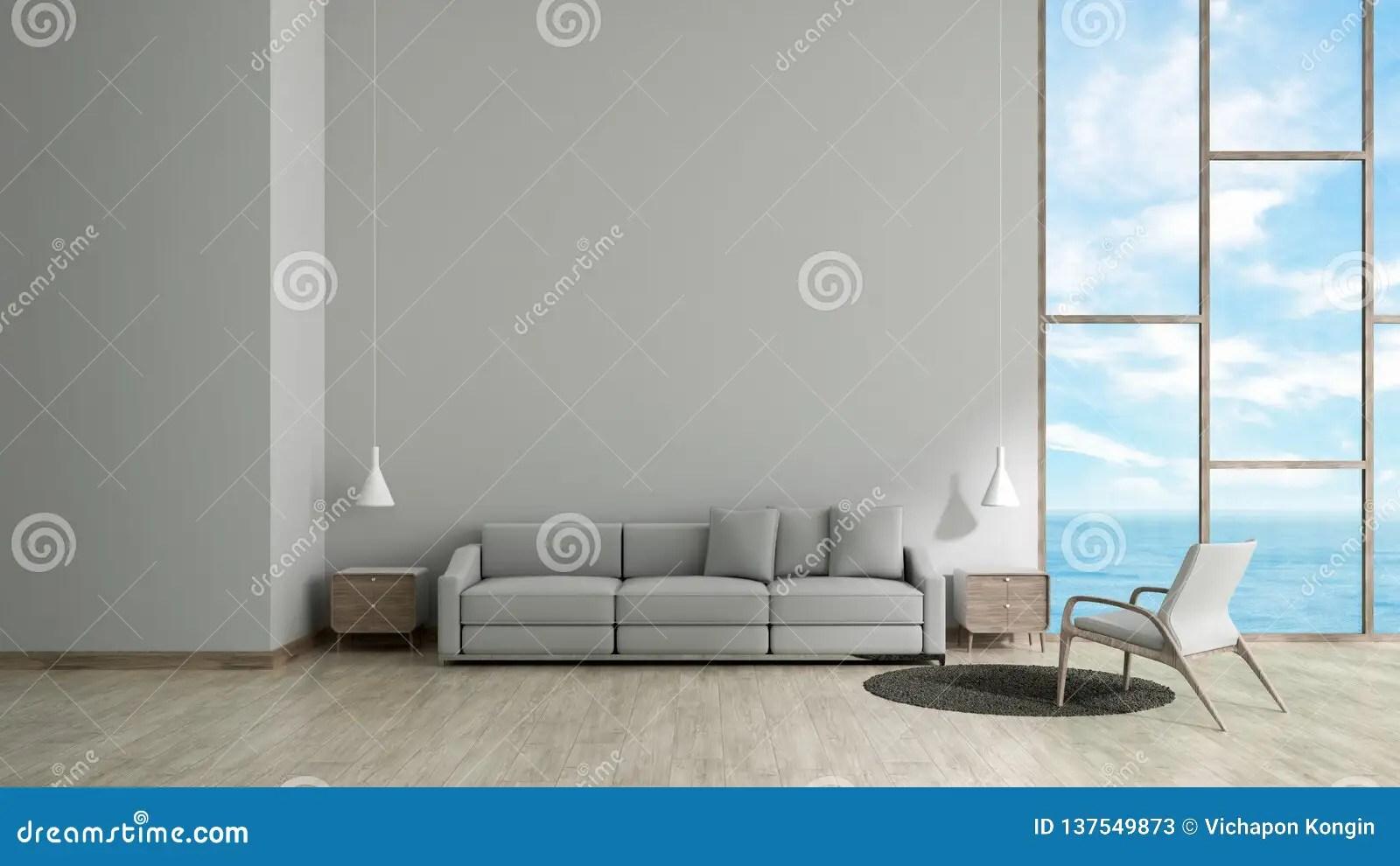 Modern Interior Living Room Wood Floor White Texture Wall
