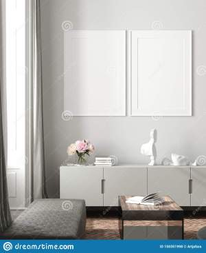pastel natural colors interior poster mock drawers indoor