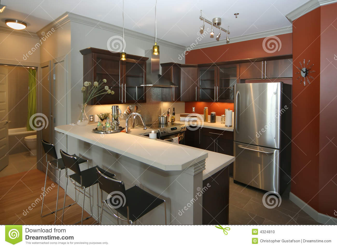 kitchen bar sink basket modern with area stock photo image of luxury