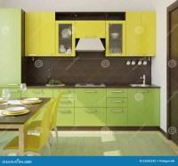 Modern kitchen interior. stock illustration. Image of ...