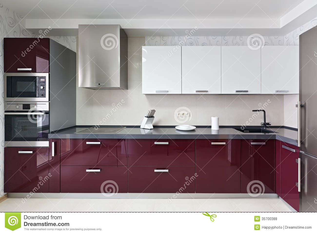 Modern Kitchen Interior Stock Photo Image Of Faucet