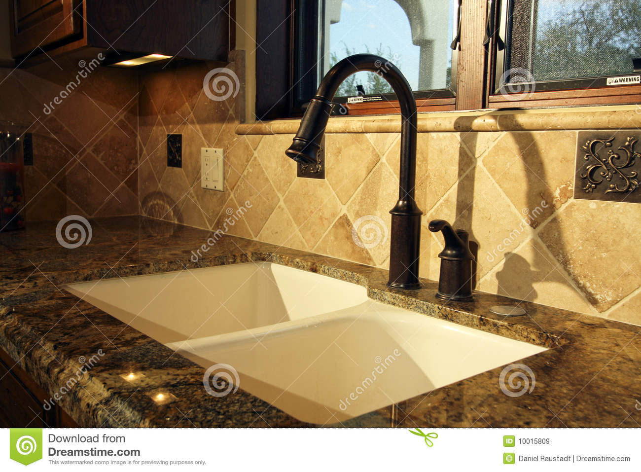 kitchen fixtures undermount white sink modern and stock image of appliance