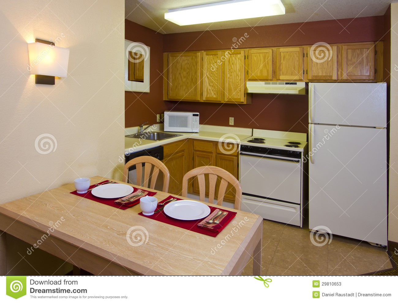Studio Apartment Kitchen Dining Living Space Stock Photos  Image 29810653