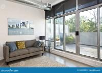 Modern Living Room And Balcony Stock Image - Image: 26857281