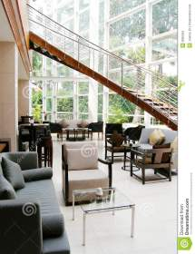 Modern Lobby Lounge Interior Hotel Stock - Of