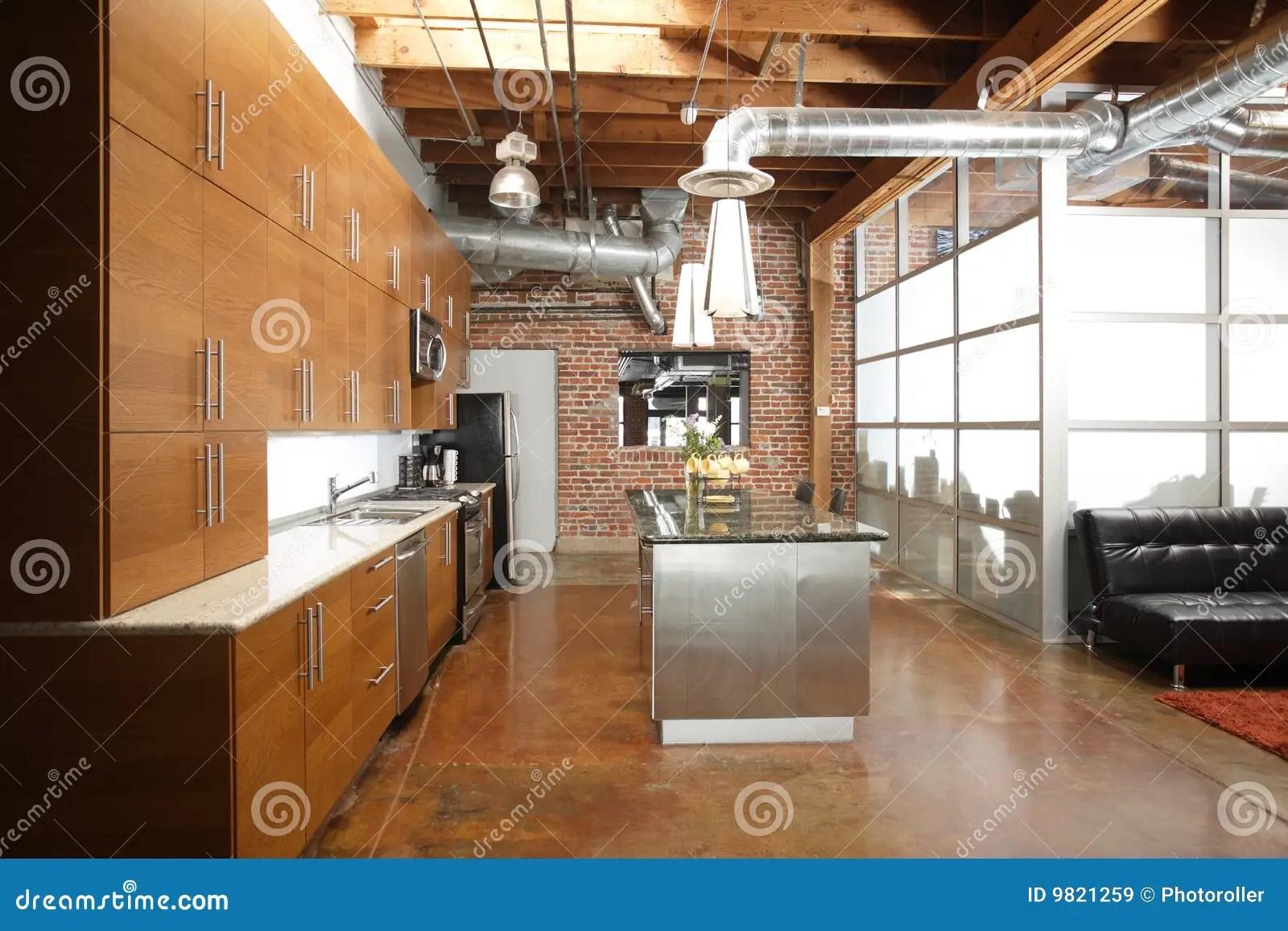 kitchen pantry cupboard backyard design modern loft royalty free stock images - image: 9821259