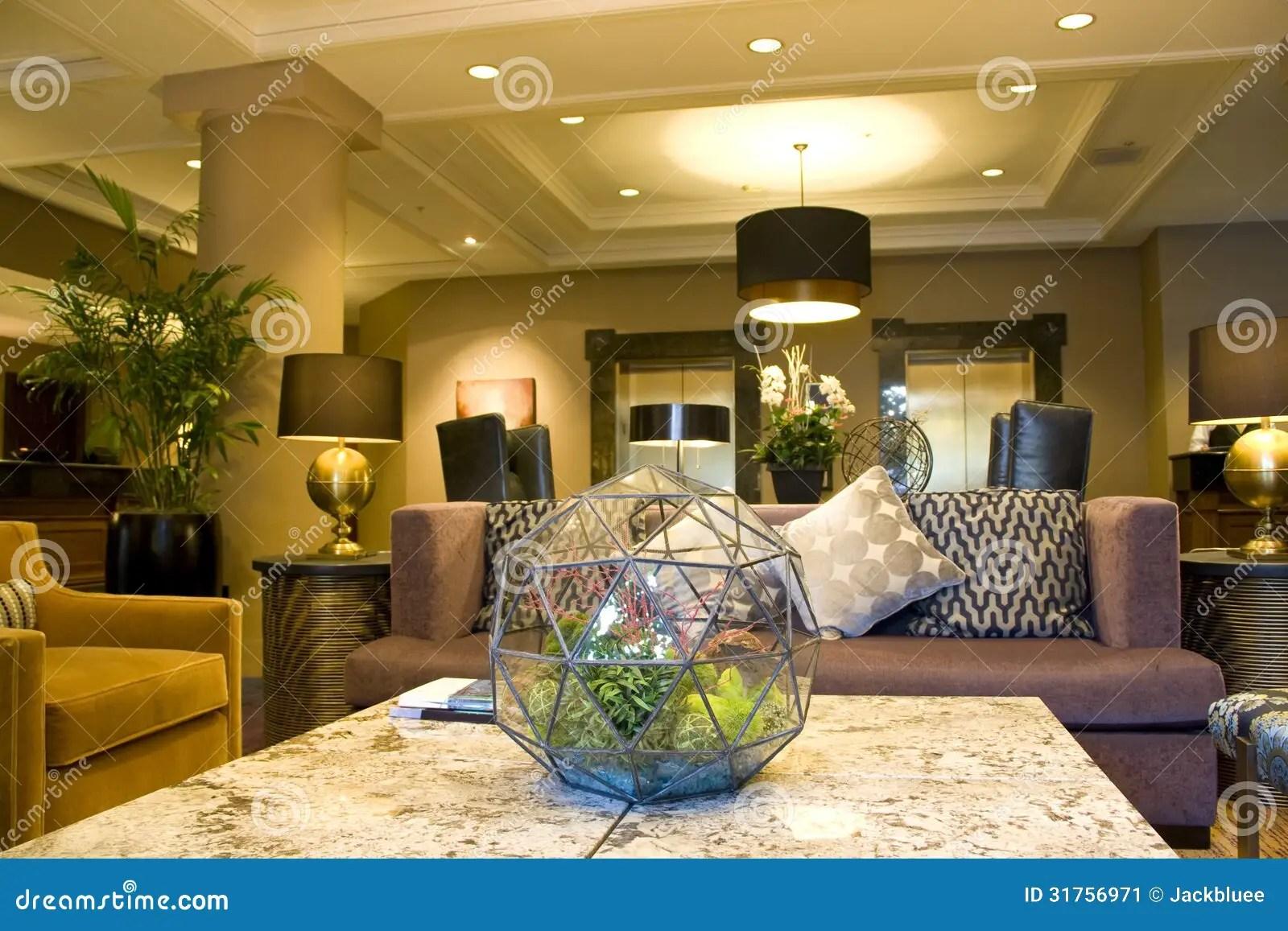 Modern Luxury Cozy Hotel Lobby Stock Image  Image 31756971