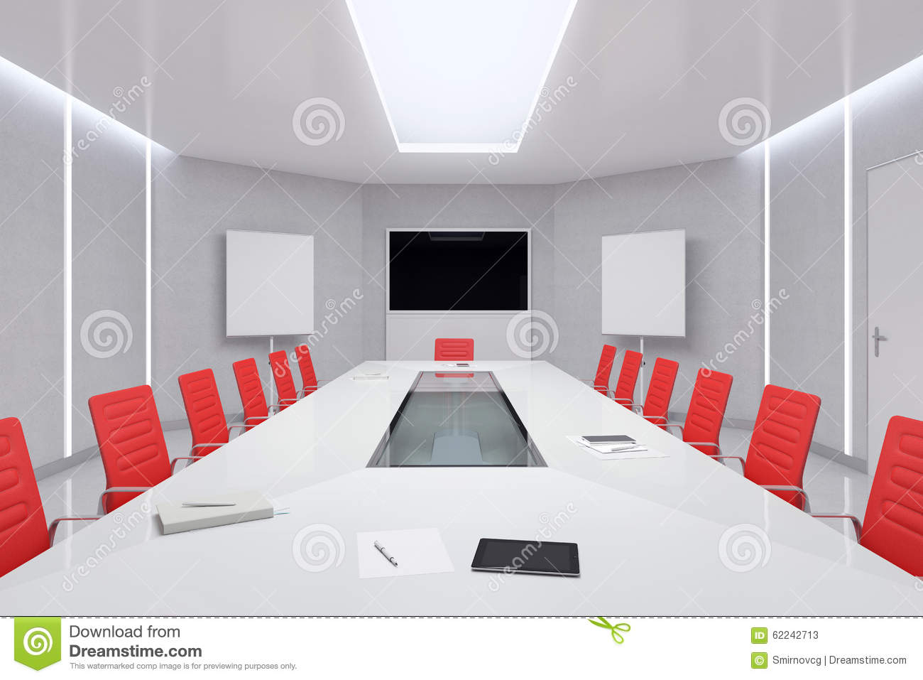 red desk chair small outdoor patio table and chairs modern meeting room. 3d illustration. stock illustration - image: 62242713