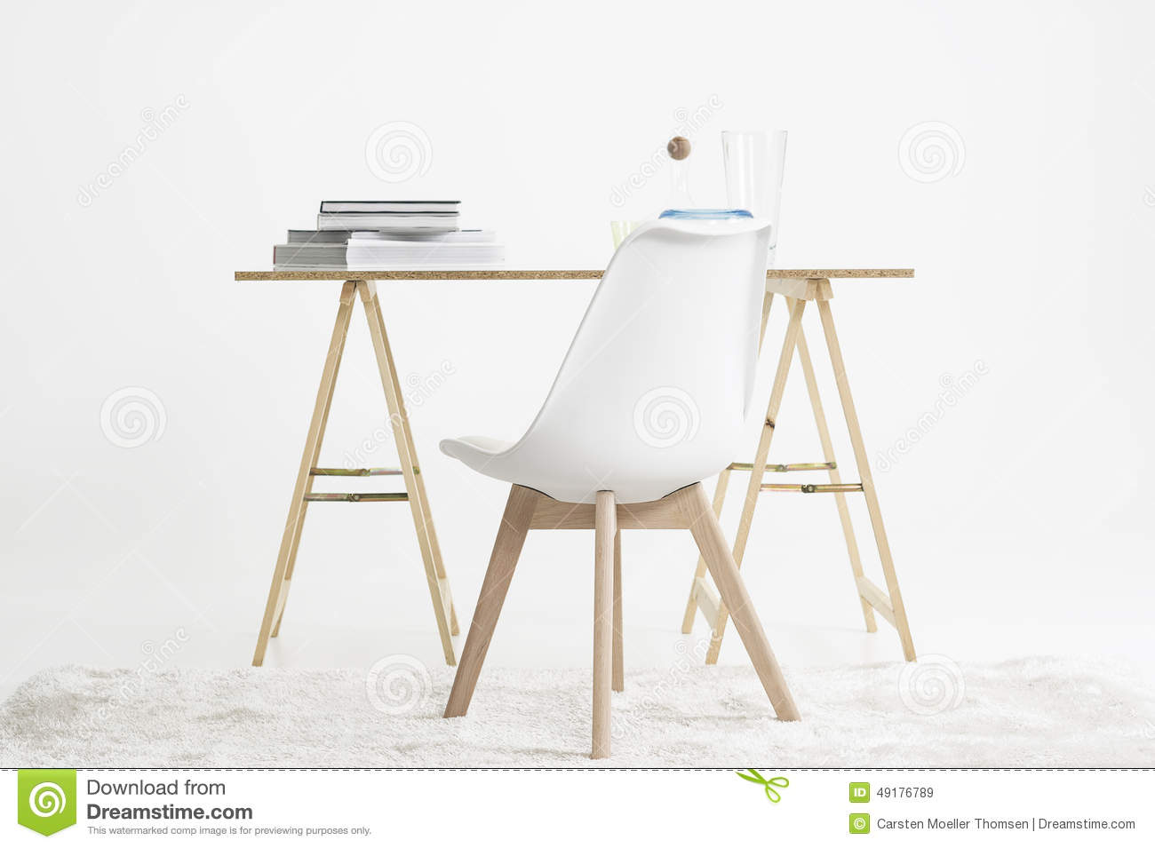 Minimalist Desk Chair Modern Minimalist Desk And Chair Stock Image Image Of