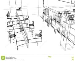 The Modern Office Sketch Stock Images   Image 3639094