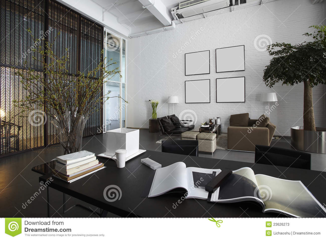desk chair for carpet bedroom reading nook modern office space stock photos - image: 23626273