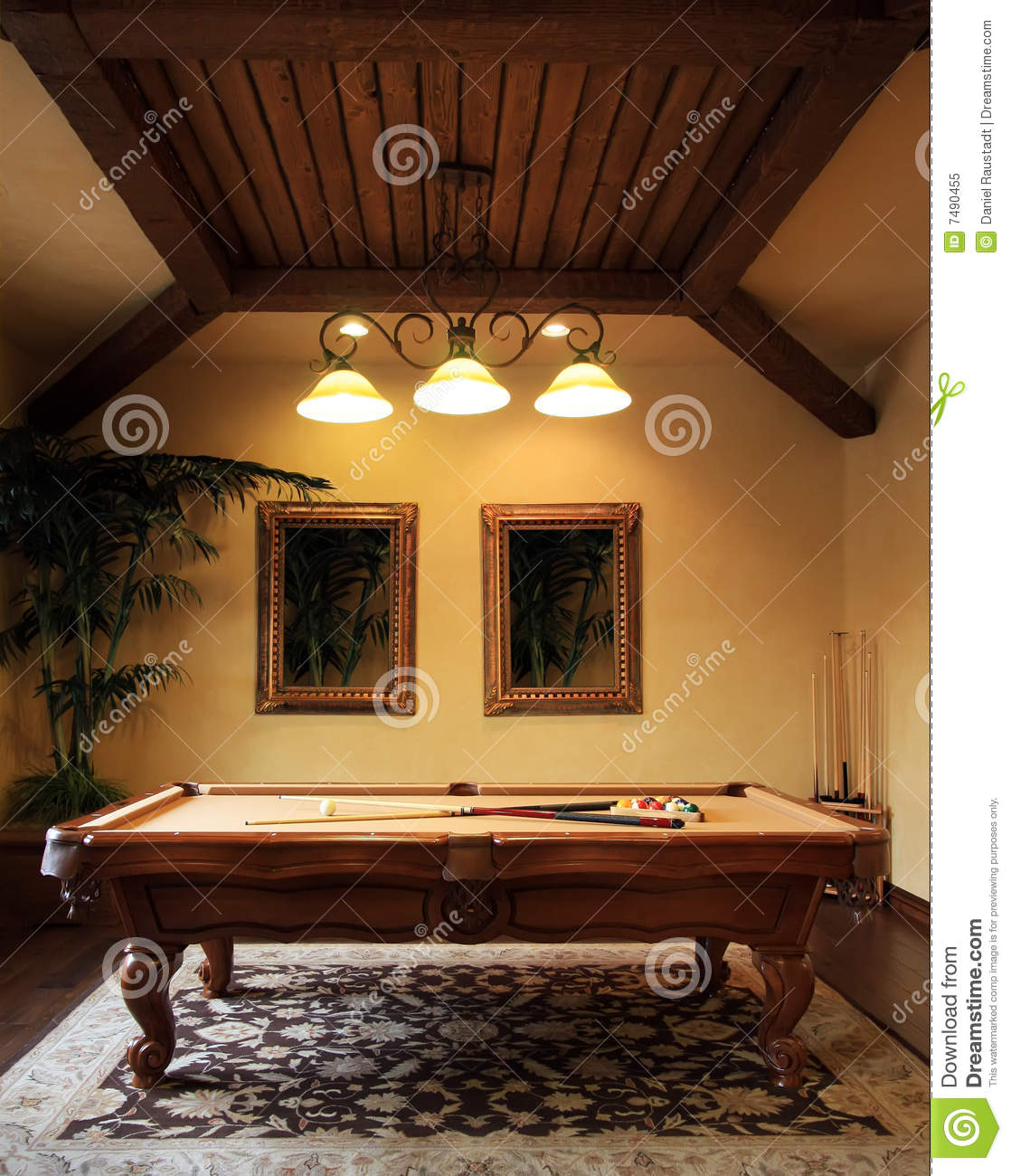 photos of beautifully decorated living rooms yellow blue and brown modern pool game room royalty free stock photo - image ...