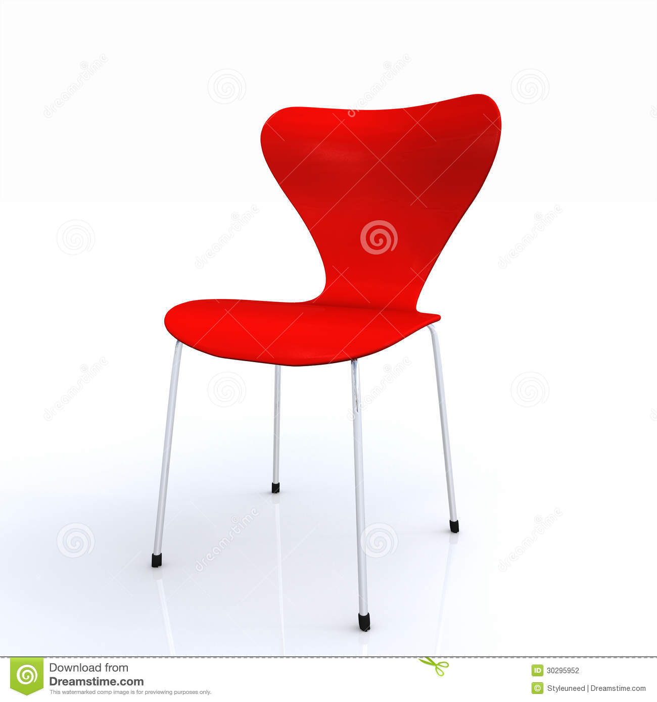 Modern Red Chair Red Chair Stock Photography Image 30295952