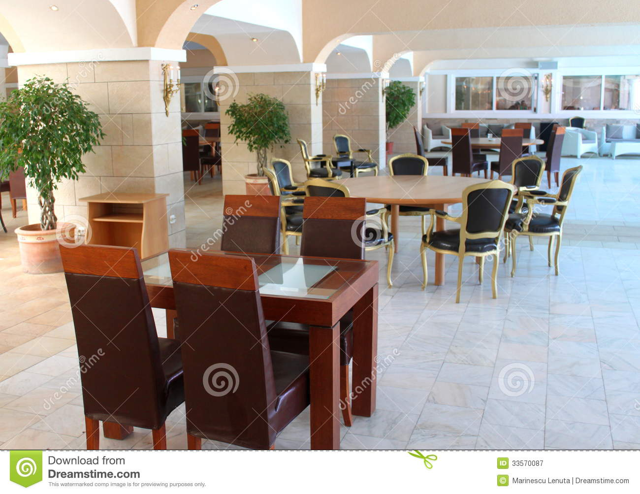 modern tables and chairs chair cover hire barnsley restaurant furniture royalty free stock photography