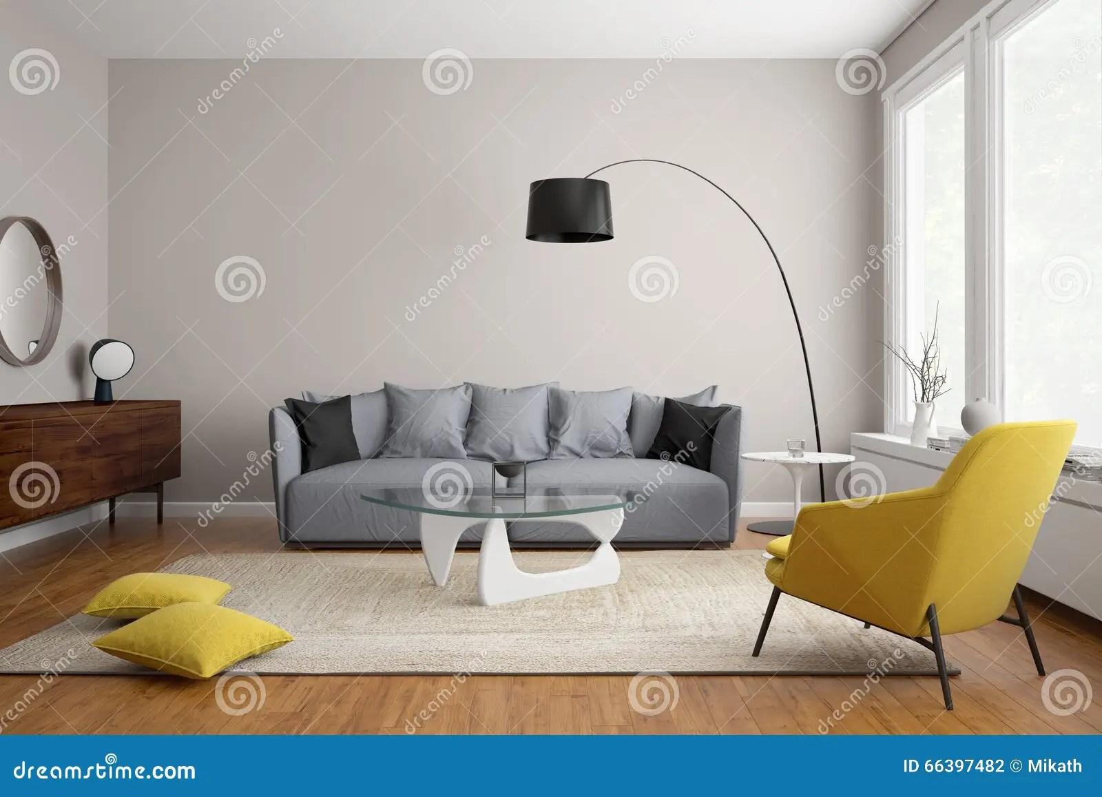 living rooms with grey sofas blue room modern scandinavian sofa stock illustration