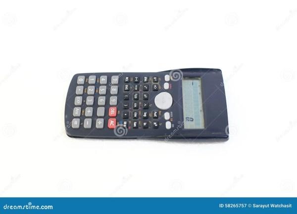 Modern Scientific Calculator White Background Stock