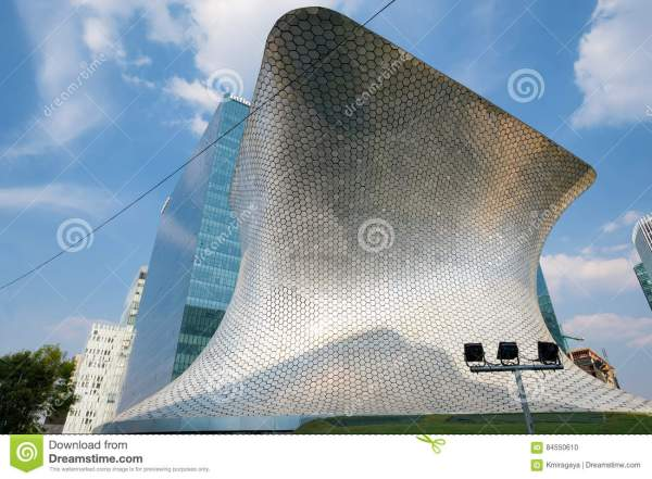 Modern Soumaya Museum Of Art In Mexico City Editorial