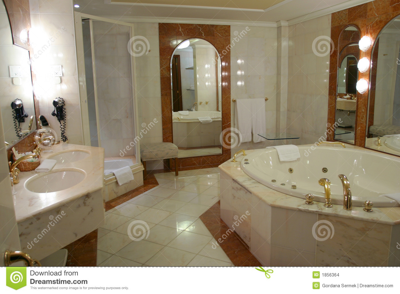 Modern And Spacious Bathroom Stock Images  Image 1856364