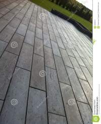 Modern Terrace Of Concrete Tiles Stock Image - Image of ...