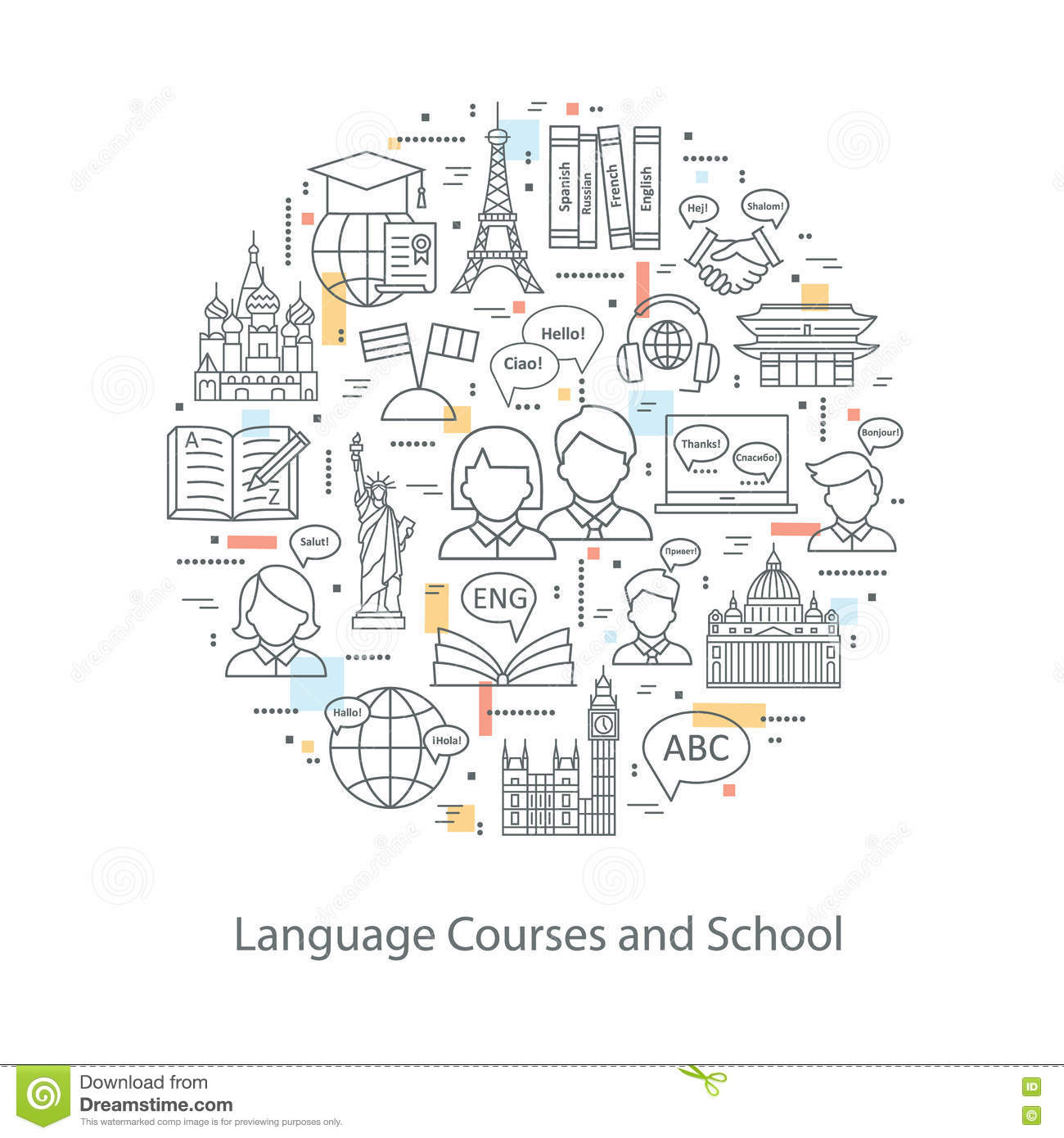 Modern Thin Line Concepts Of Learning Foreign Languages