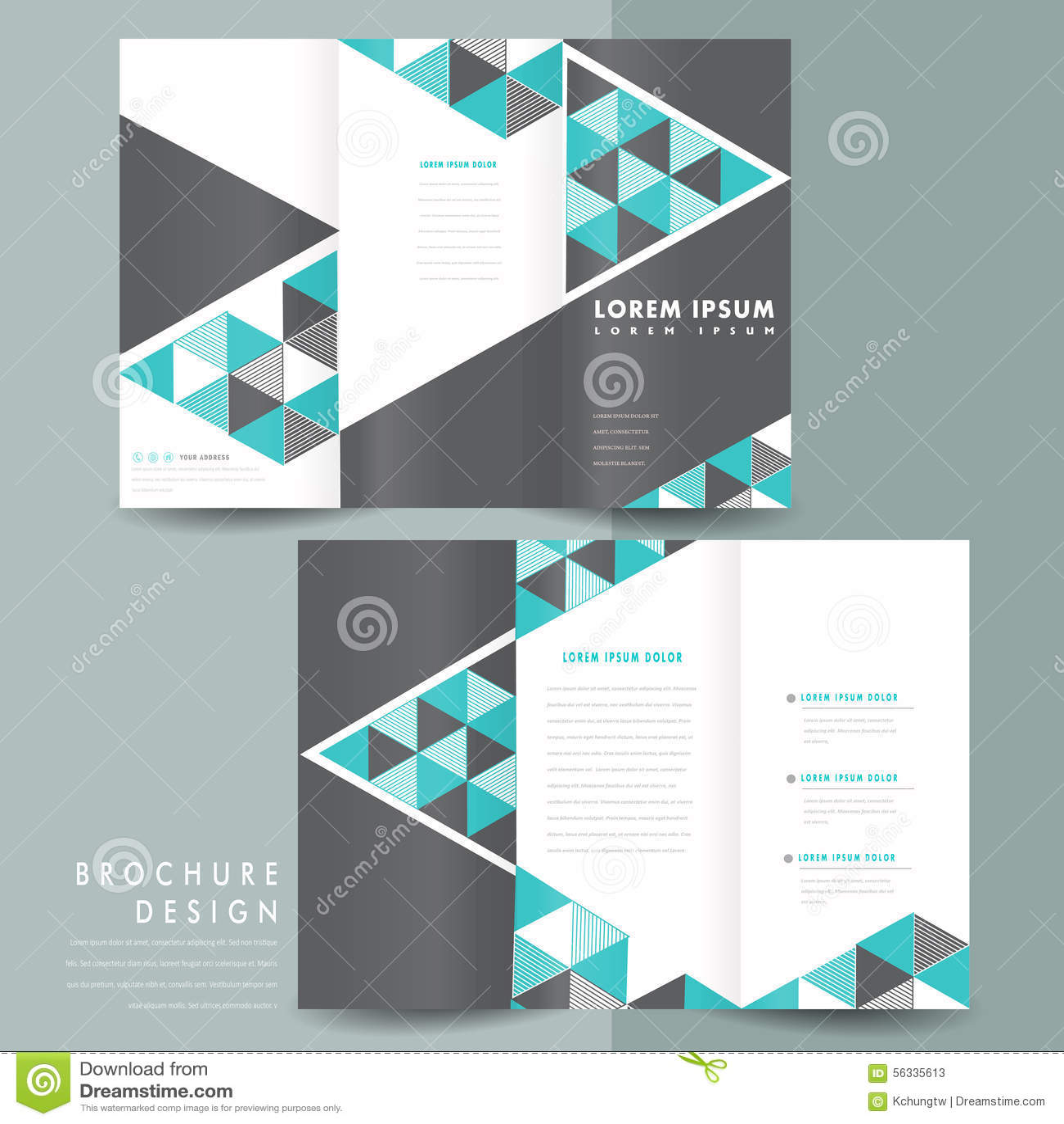 Tri Fold Brochure Template Design Ideal Vistalist Co
