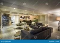 Modern Underground Living Room Editorial Image - Image ...