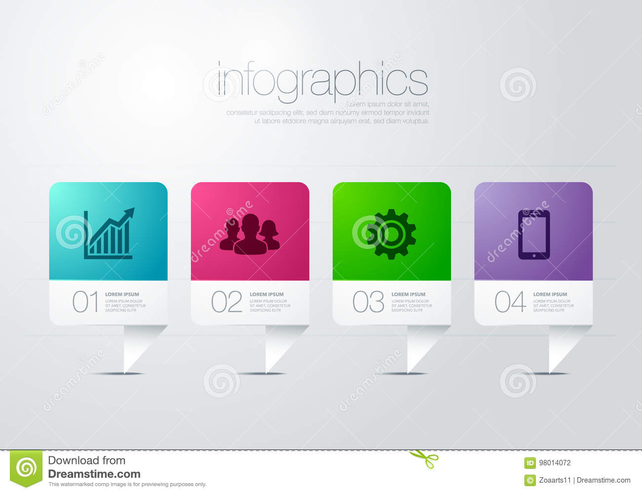 hight resolution of modern vector infographic diagram with bar