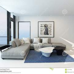Grey Carpet In Living Room Pictures Of Interior Design For Rooms Modern Waterfront Stock Illustration ...