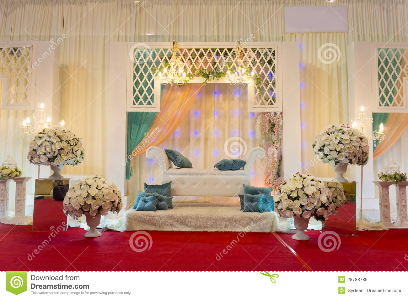 chair latest design folding stadium chairs modern wedding stage royalty free stock images - image: 28788789