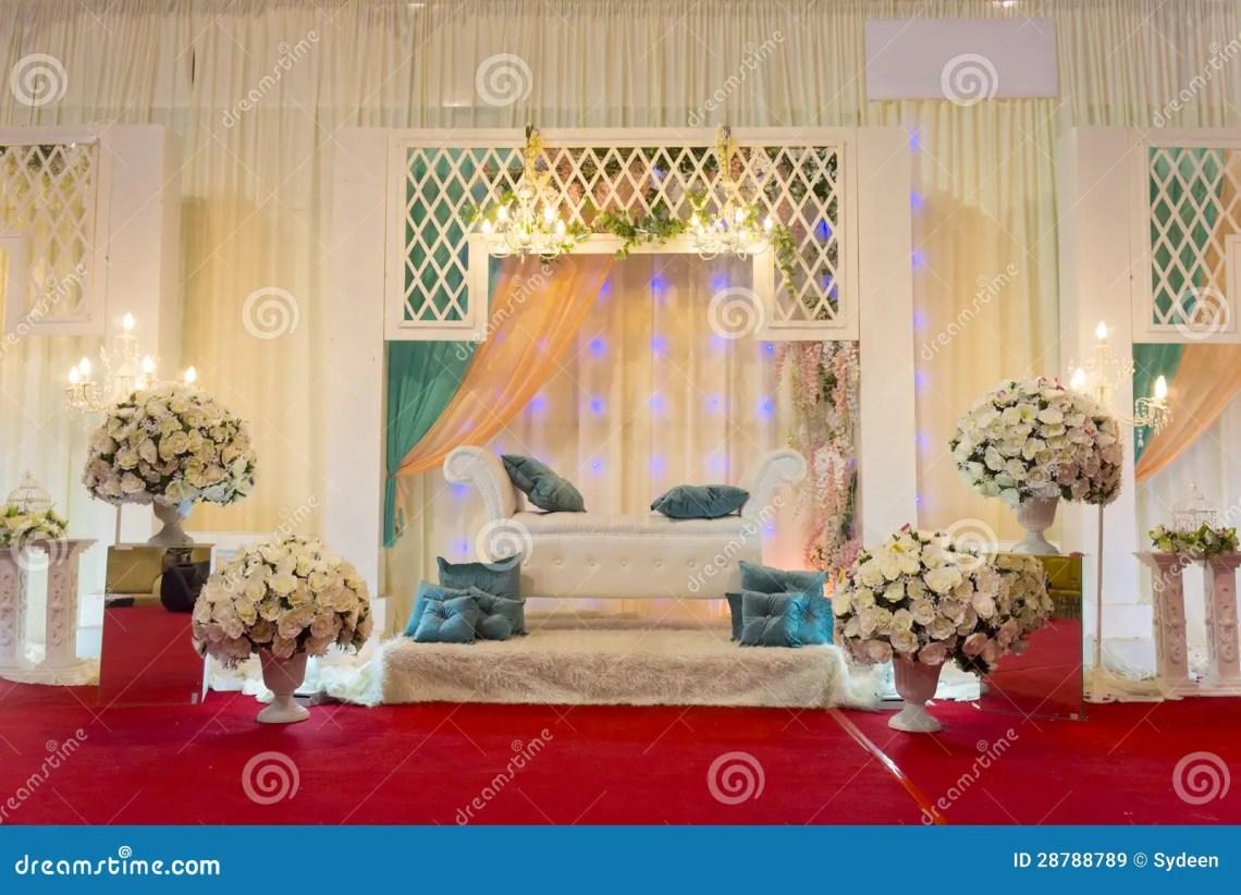 Modern wedding stage stock image. Image of marriage ...