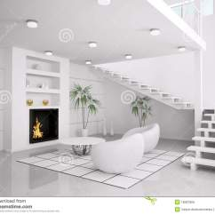 Pictures Of Modern White Living Rooms Unique Room Wallpaper Interior 3d Render Stock Illustration With Fireplace And Staircase