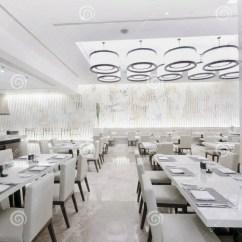 White Kitchen Buffet Counter Resurfacing Modern Restaurant Interior Royalty Free Stock ...