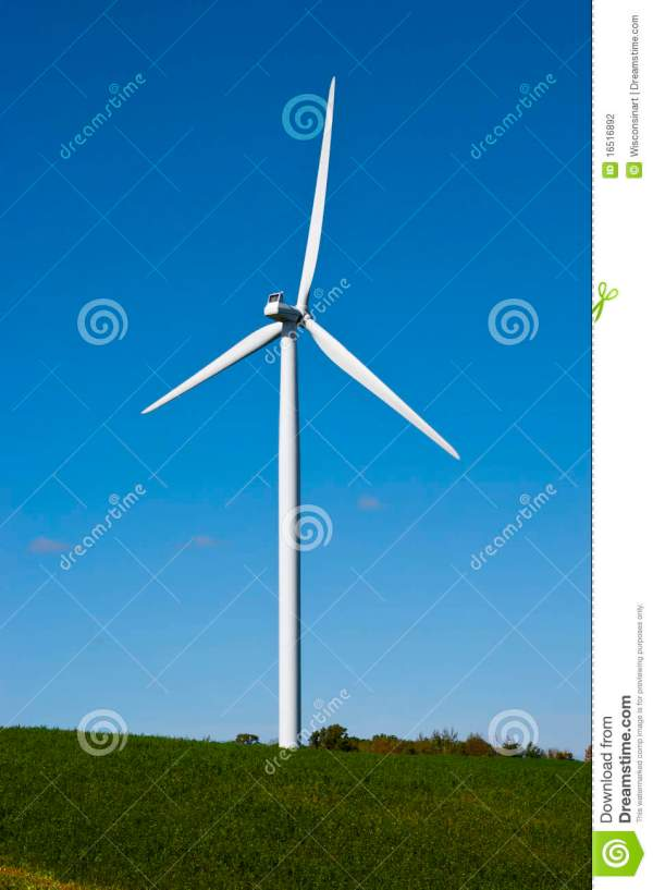 Modern Windmill Turbine Wind Power Green Energy Stock