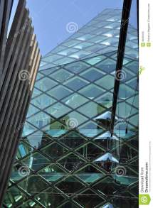 Curved Glass Facade Architecture
