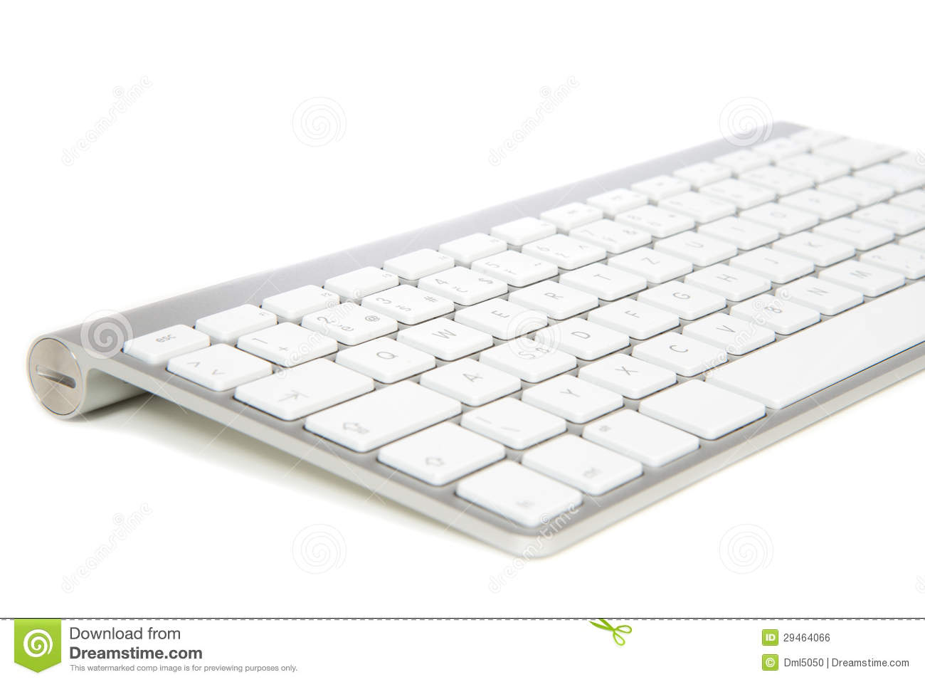 Modern Wireless Computer Keyboard Stock Photo