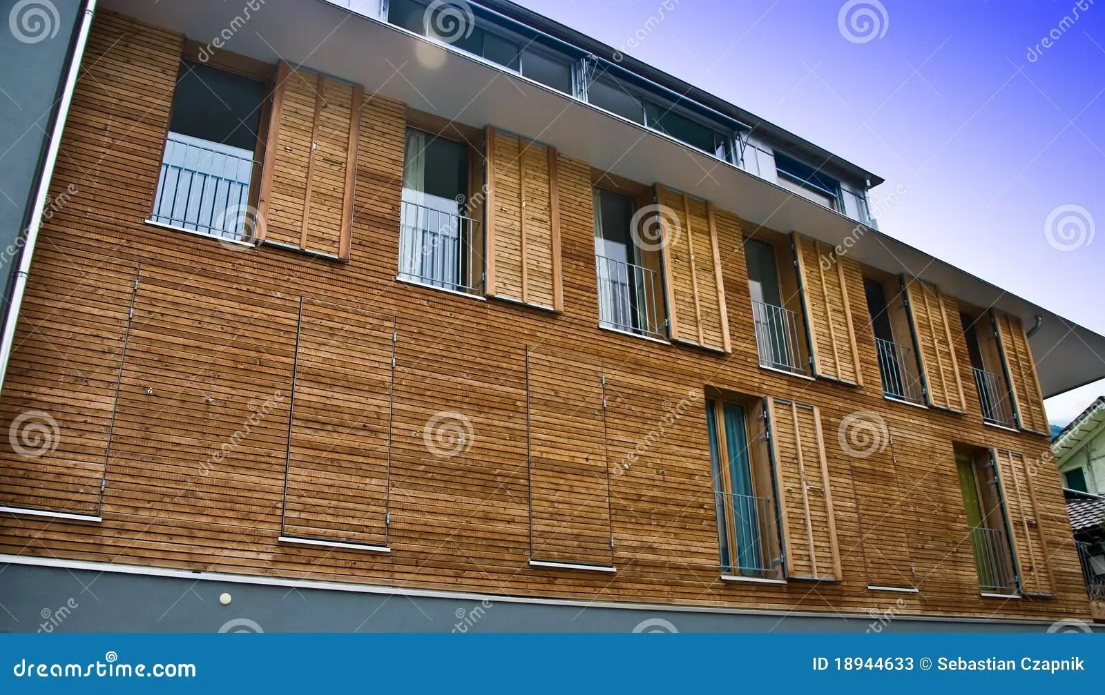 Modern Wooden House Facade Stock Photos  Image 18944633