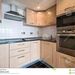 Modern Kitchen Appliances Trending Wooden With Silver Royalty Free