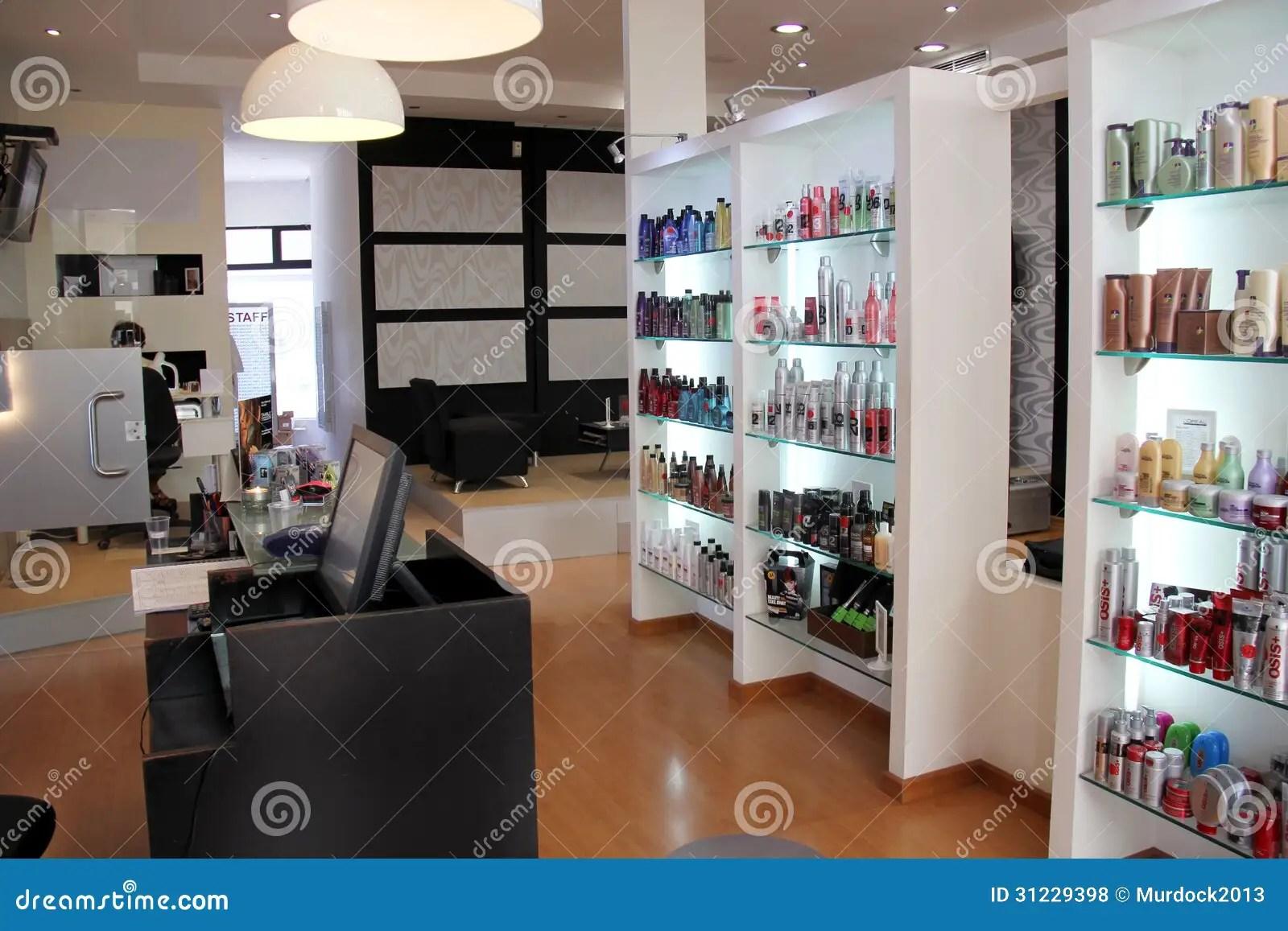Moderner Friseursalon Redaktionelles Stockfoto  Bild