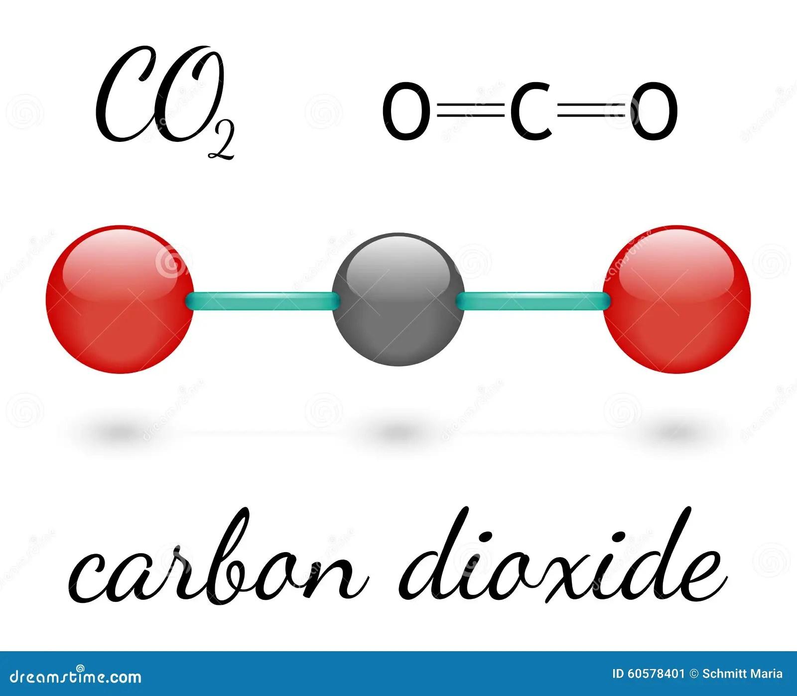 Molecula Do Co2 Ilustracao Stock Ilustracao De Tres