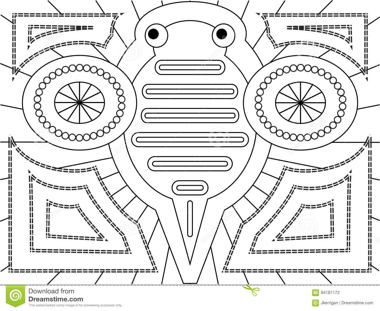 Mola Design stock vector. Illustration of clipart