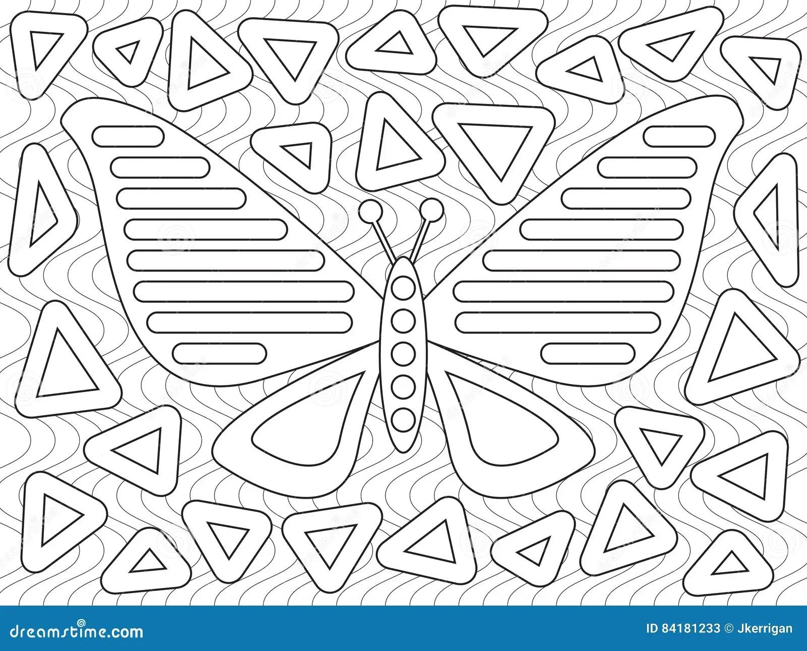 Mola Design stock vector. Illustration of butterfly