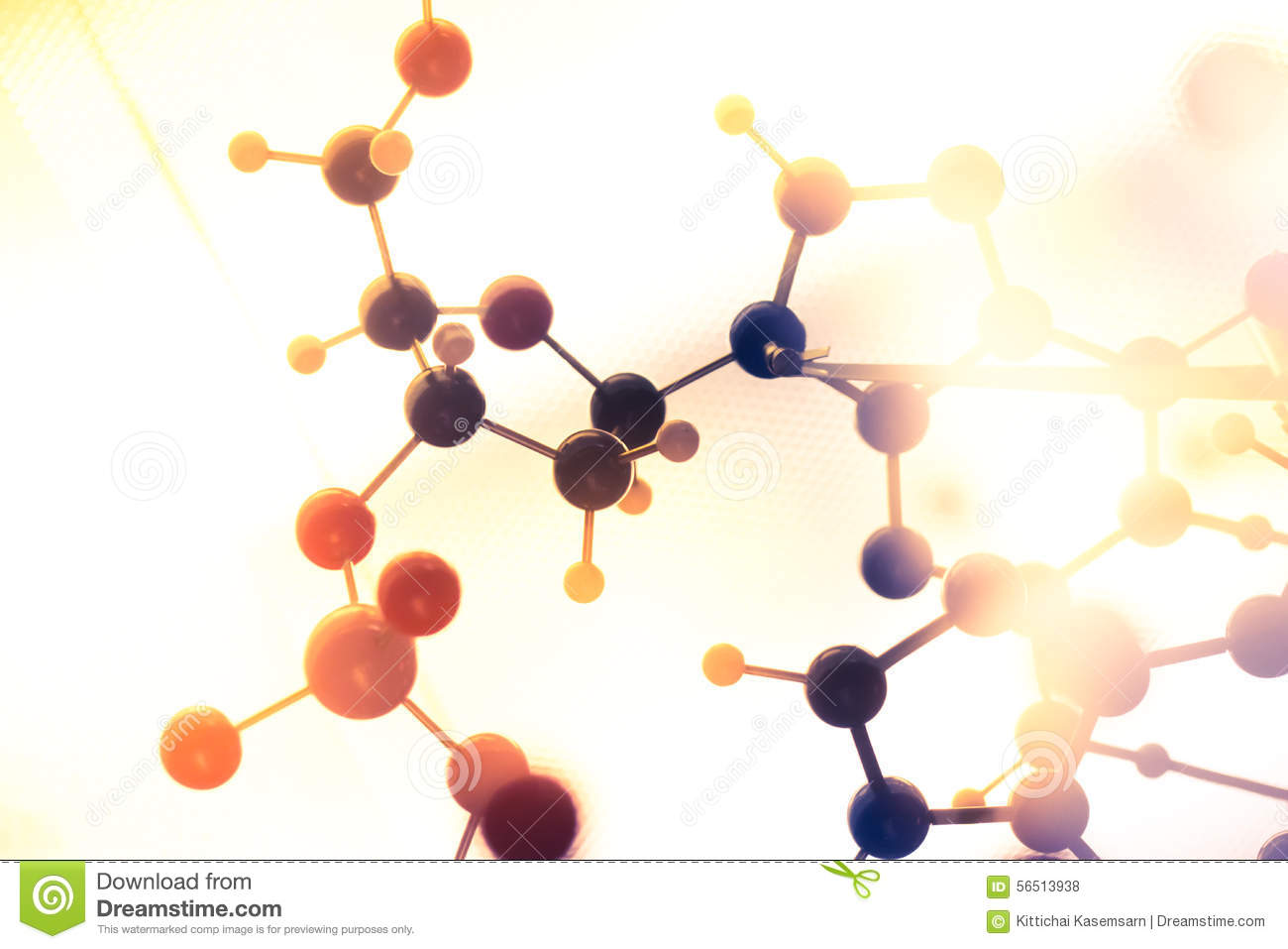 hight resolution of molecular dna and atom model in science research lab