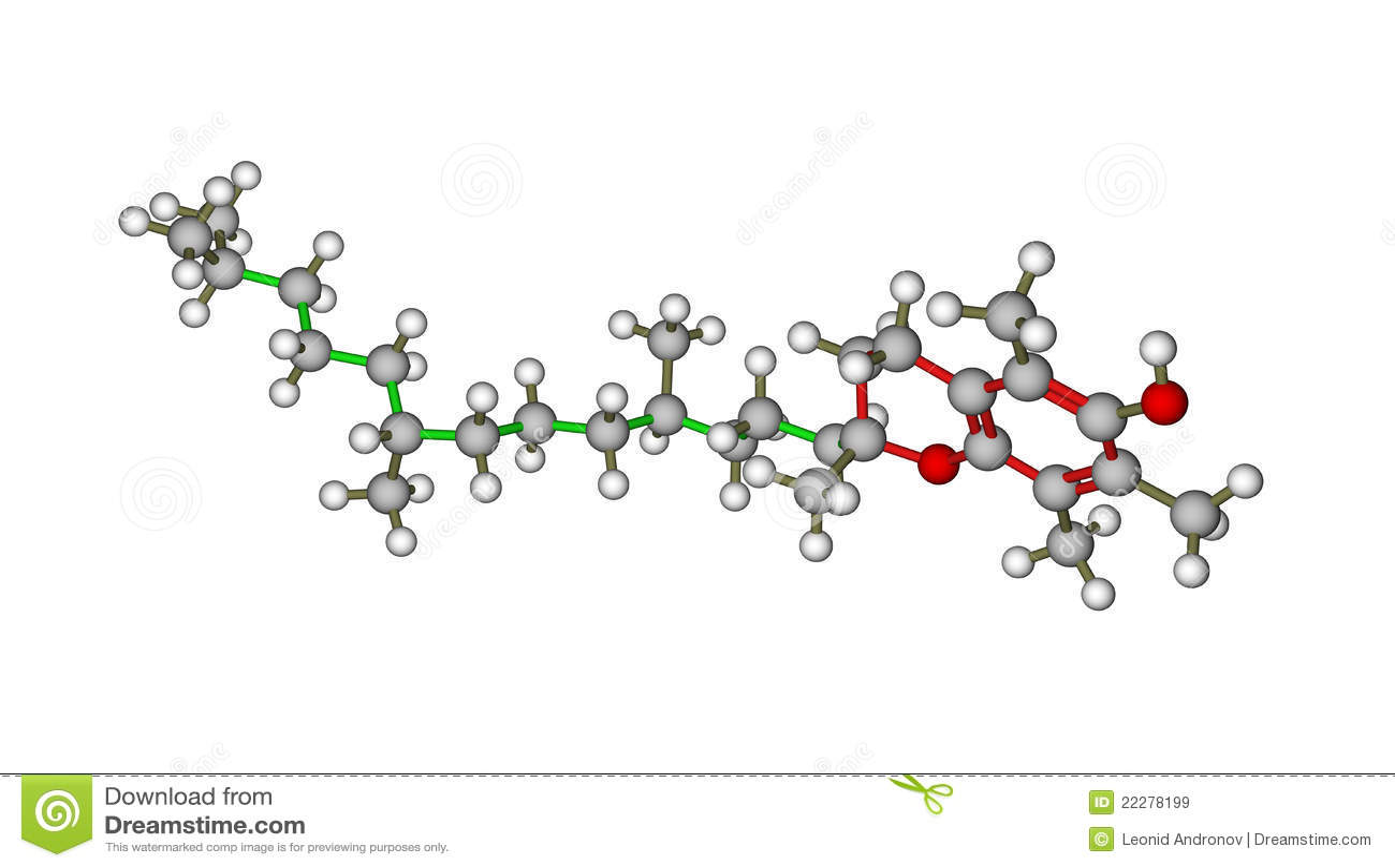 Vitamin E Alpha Tocopherol Molecule Royalty Free Stock