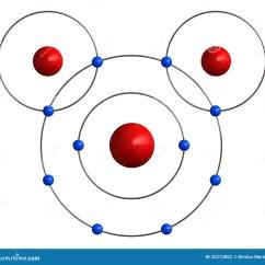 Water Molecule Diagram Er Template Molecular Structure Of Stock Illustration