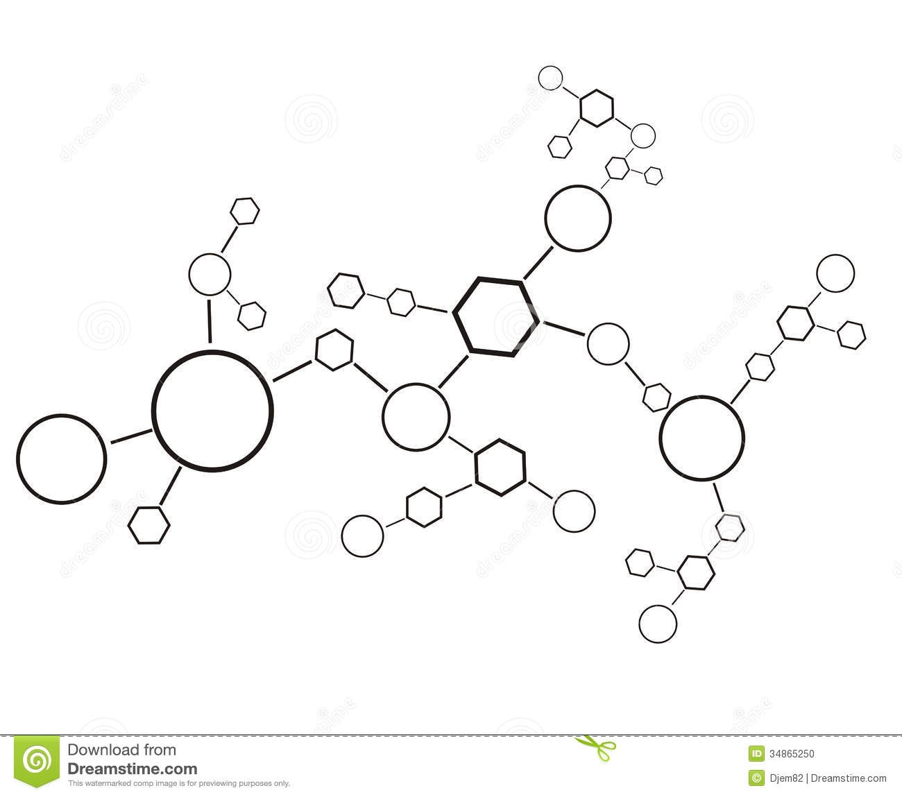 Molecule Background Stock Vector Image Of Direction