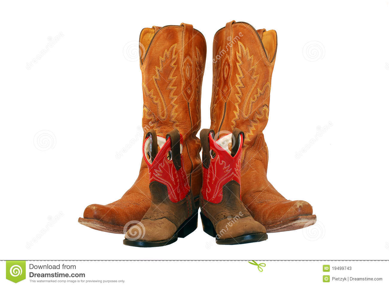 Mom And Baby Cowgirl Boots Stock Image Image Of Sole
