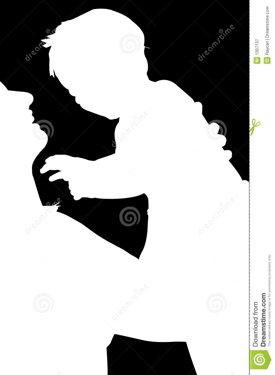 Download Mom and Child silhouette stock image. Image of baby ...