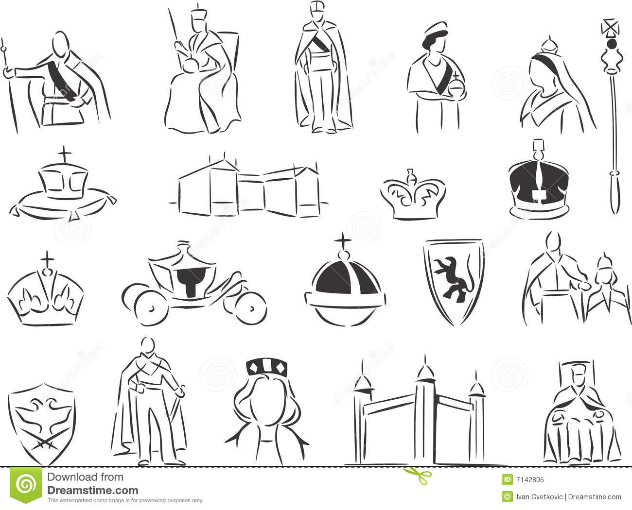 Monarchy Stock Vector Image Of Clipart Drawing Line