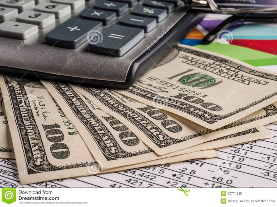 Money And Calculator Royalty Free Stock Photos Image 30774528